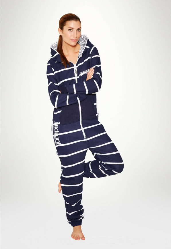 Jumpsuit Original Stripe Navy - Damen
