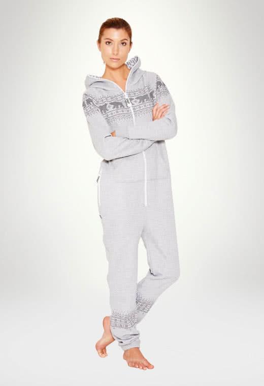 Jumpsuit Original Norwegian Bear Grey - Woman