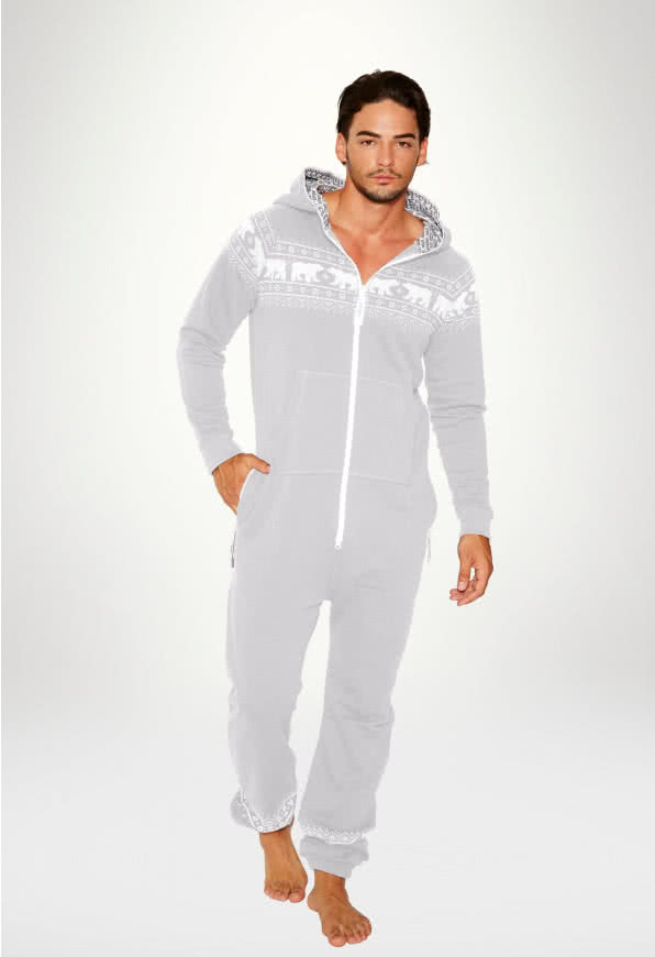 Jumpsuit Original Norwegian Bear Grey - Man
