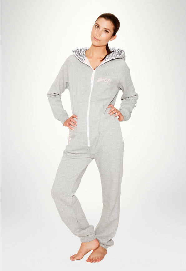 Jumpin Jumpsuit - Grey Candy