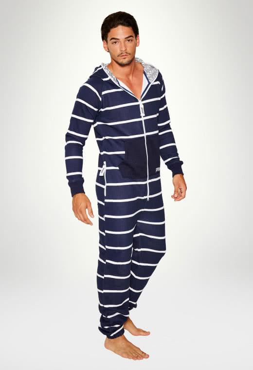 Jumpsuit Original Stripe Navy - Herre buksedragter