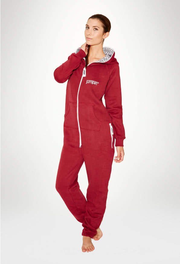 Jumpsuit Original Burgundy - Dame buksedragt Bordeaux
