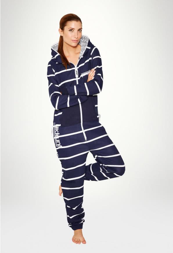 Jumpsuit Original Stripe Navy - Dame buksedragter