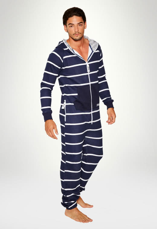 Jumpsuit Original Stripe Navy - Herr haalareita